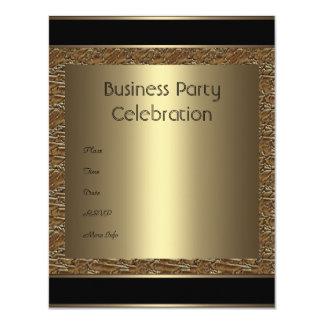 Invitation Business Brown Black Bronze Metal
