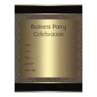 Invitation Business Brown Black Bronze Pebble