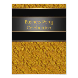 Invitation Business Office Party Black Bronze