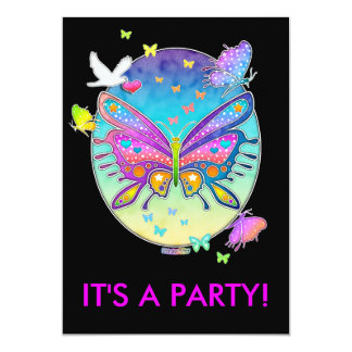Invitation - BUTTERFLY POP ART