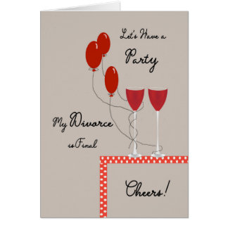 Invitation Card for Divorce is Final Party