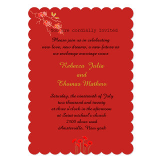 Invitation card for marriage parties