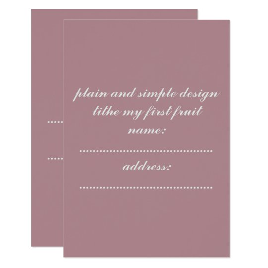 invitation card standard white enveloped included