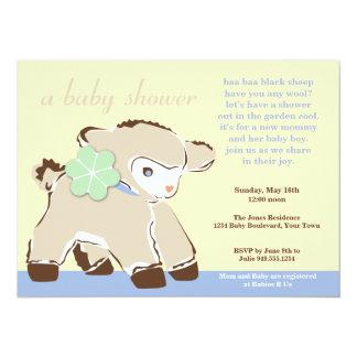 Invitation chérie de douche d'agneau de bébé de