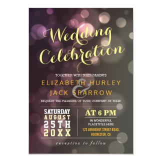 Invitation chic moderne de célébration de mariage