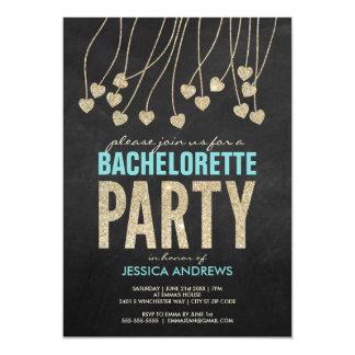 Invitation chic Shimmery de partie de Bachelorette