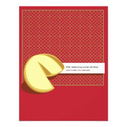 Invitation chinoise de répétition de biscuit de fo