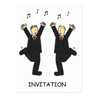 Invitation civile gaie de partie des syndicats carte postale