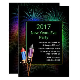 Invitation colorée de partie de nouvelles années
