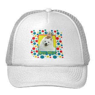 Invitation Cupcake - American Eskimo Mesh Hat