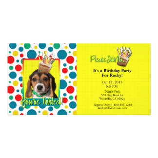 Invitation Cupcake - Beagle Puppy - Chloe Photo Card
