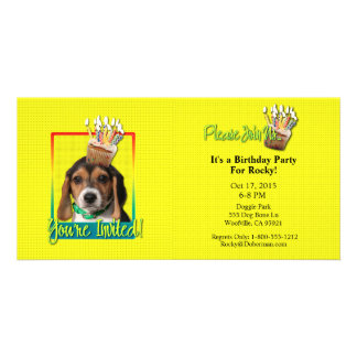 Invitation Cupcake - Beagle Puppy - Chloe Photo Cards
