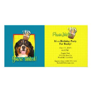 Invitation Cupcake - Bernese Mountain Dog Photo Card Template