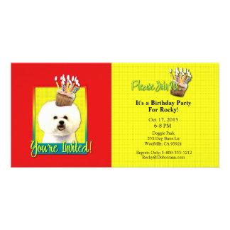 Invitation Cupcake - Bichon Frise Photo Card Template