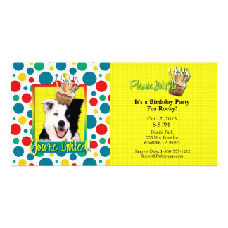 Invitation Cupcake - Border Collie Photo Greeting Card