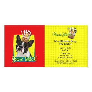 Invitation Cupcake - Boston Terrier Picture Card