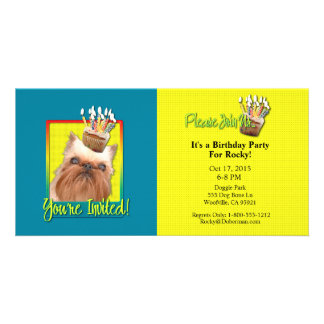 Invitation Cupcake - Brussels Griffon Custom Photo Card