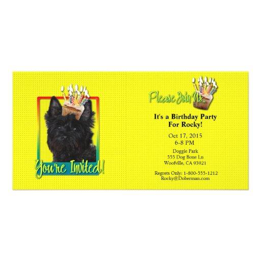 Invitation Cupcake - Cairn Terrier - Rosco Photo Card