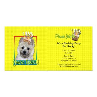 Invitation Cupcake - Cairn Terrier - TeddyBear Personalized Photo Card