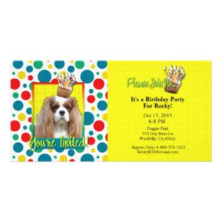 Invitation Cupcake - Cavalier - Blenheim Photo Card