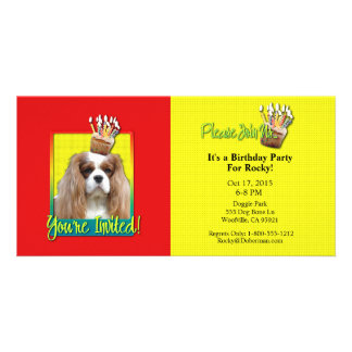 Invitation Cupcake - Cavalier - Blenheim Personalized Photo Card