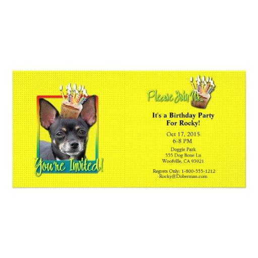 Invitation Cupcake - Chihuahua - Isabella Photo Card