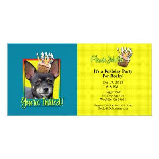 Invitation Cupcake - Chihuahua - Isabella Photo Card Template