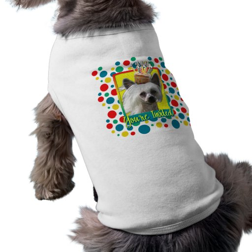 Invitation Cupcake - Chinese Crested - Kahlo Dog Tee Shirt