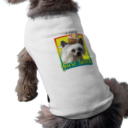 Invitation Cupcake - Chinese Crested - Kahlo Pet Clothes