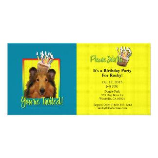 Invitation Cupcake - Collie - Natalie Picture Card