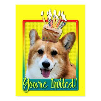 Invitation Cupcake - Corgi - Owen Postcard