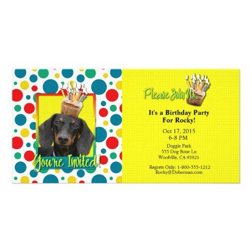 Invitation Cupcake - Dachshund - Winston Photo Cards