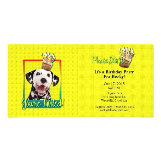 Invitation Cupcake - Dalmatian Personalized Photo Card
