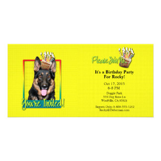 Invitation Cupcake - German Shepherd - Kuno Customized Photo Card