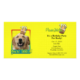 Invitation Cupcake - Golden Retriever - Mickey Customized Photo Card