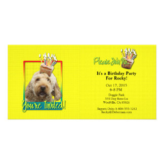 Invitation Cupcake - GoldenDoodle Customized Photo Card