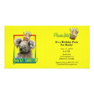 Invitation Cupcake - Koala Photo Cards