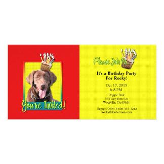 Invitation Cupcake - Labrador - Chocolate Photo Greeting Card