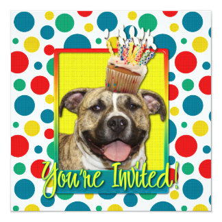 Invitation Cupcake - Pitbull - Tigger