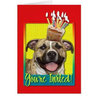 Invitation Cupcake - Pitbull - Tigger Greeting Card