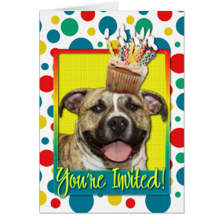 Invitation Cupcake - Pitbull - Tigger Greeting Card
