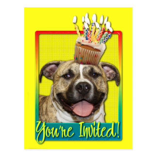 Invitation Cupcake - Pitbull - Tigger Postcard