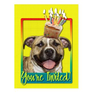 Invitation Cupcake - Pitbull - Tigger Postcard
