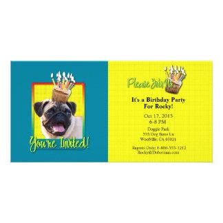 Invitation Cupcake - Pug Personalized Photo Card