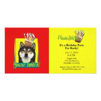 Invitation Cupcake - Shiba Inu - Yasha Photo Card Template