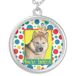 Invitation Cupcake - Siberian Husky - Copper Custom Jewelry