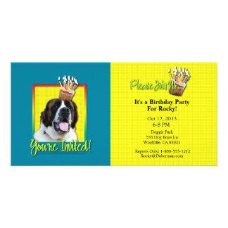 Invitation Cupcake - St Bernard - Mae Photo Card Template