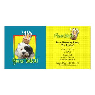 Invitation Cupcake - Tibetan Terrier Customized Photo Card