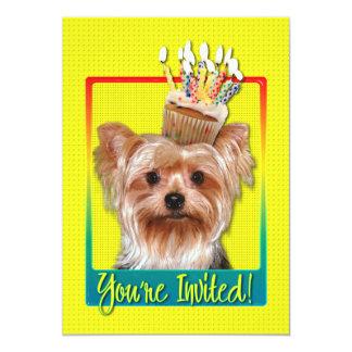 Invitation Cupcake - Yorkshire Terrier