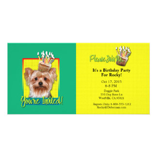 Invitation Cupcake - Yorkshire Terrier Photo Greeting Card